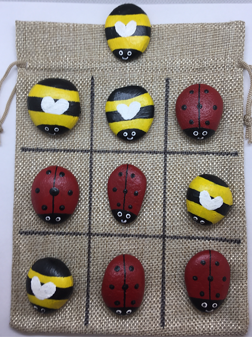 Bumble Bee and Ladybird Tic Toe Toe Set