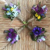 Spring seasonal corsages for a Scottish