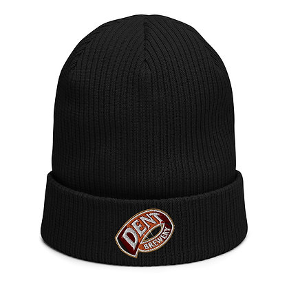 Keep your brain powered with ale but warm with our Organic ribbed beanie