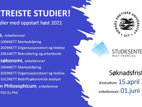 KORTREISTE STUDIER! (Høst 2021)