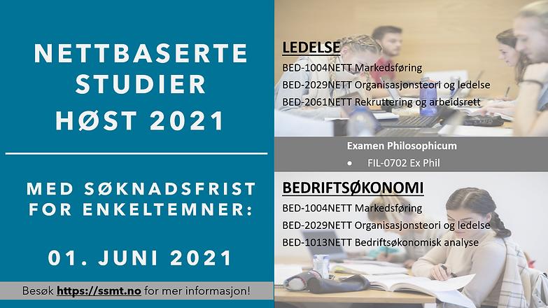 nettbaserte studier høst 2021 - enkeltem