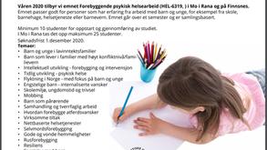 HEL-6319 Forebyggende psykisk helsearbeid rettet mot barn og unge (samlingsbasert)