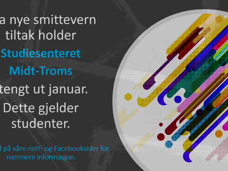 Studiesenteret holder stengt ut januar for studenter!
