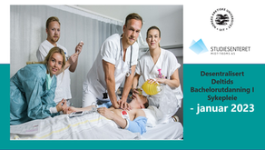Desentralisert Deltids Bachelorutdanning I Sykepleie - januar 2023