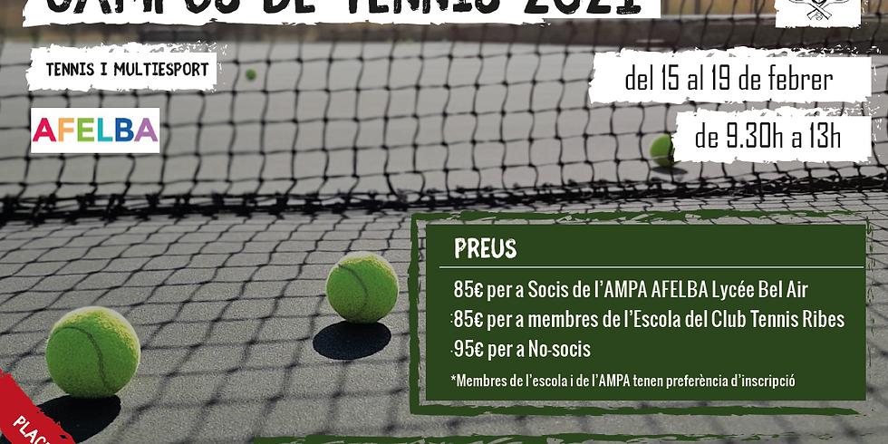 Campus de Tenis del 15 al 19 de febrero