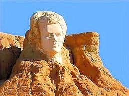 Busto del poeta a Raʾs al-ʿAyn, Tozeur.