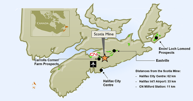 Figure 4-1 (PFS) - Scotia Mine Location