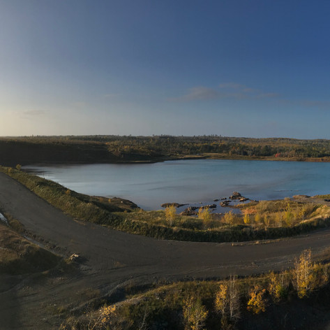 Haulage Ramps & Open Pit (flooded)