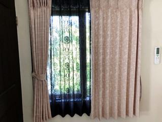 客室のカーテンのリニューアル 第一弾