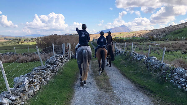 Exploring the Feenone area on the Clew Bay Trail Ride