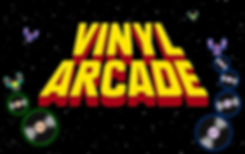 Vinyl Arcade Cleveland band logo - a unique cover band performing 70s/80s music and tv themes