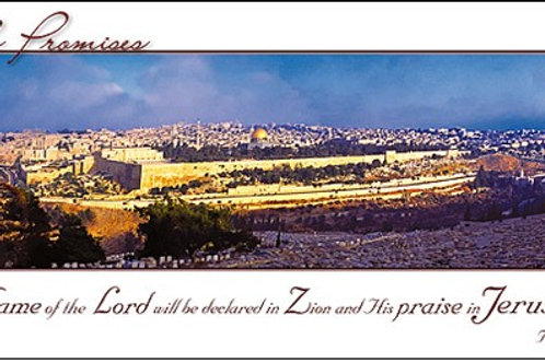 Greeting Card - Panoramic view of Jerusalem