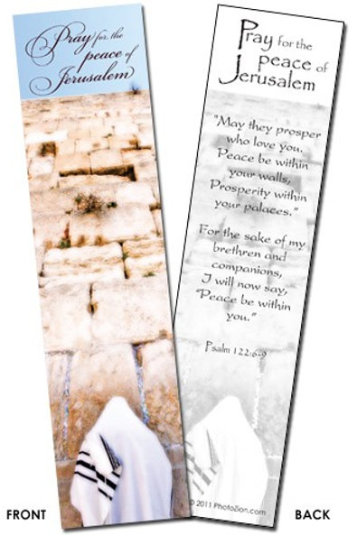 Book Mark - Pray for the Peace of Jerusalem