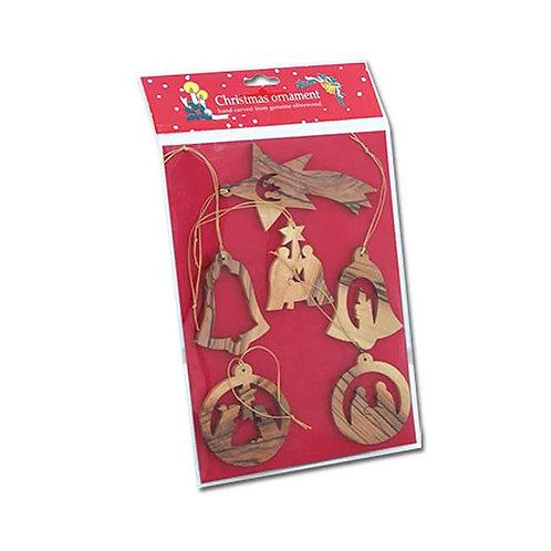 Six Christmas Ornaments