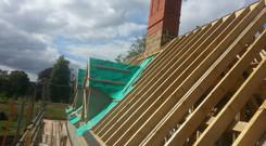 Hand cut roof