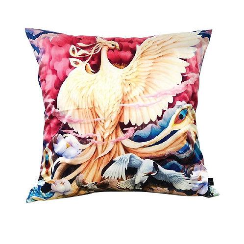 "Luxury Queen Swan Cushions 18"""