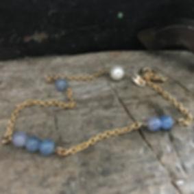 Månesten, Alguld, armbånd med månesten, perlearmbånd, armlænke med perle, guldlænke, guldarmbånd