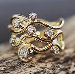 guldring med diamanter, unik guldring, forlovelsesring, dansk design