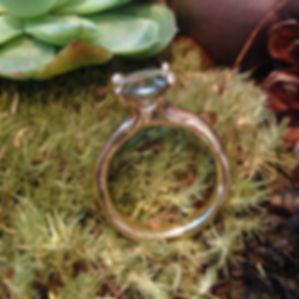 ALGULD, GRØN TURMALIN, organisk guldring, rustik guldring