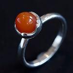 ring med karneol, sølvring med onyx, ring med ametyst, alguld