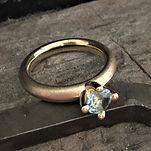 hvidgulds diamantring, prinsessering, rustik prinsessering, alguld, diamantring
