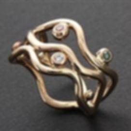 Handlavet diamantring