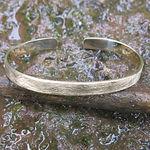 mat sølvarmring alguld, guldarmring, enkel guld armring, håndlavet armring, guldsmed aarhus, personligt armbånd, unik armring, alguld