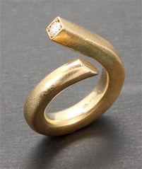 alguld diamantring