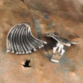 alguld sølv øreclips
