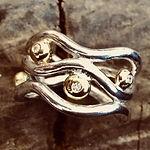 Sølvring med diamant, guldsmed århus, håndlavede smykker