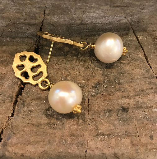 Perleøreringe alguld