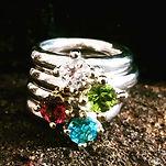 sølvring med ædelsten, sølv diamantring, prinsessering, alguld, guldsmed århus, hvidguld blå sten