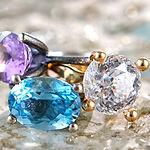prinsessering, ring med bjergkrystal, kæmpe diamantring