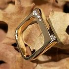 grafisk guldring,alguld, herre diamantring, unik diamantring