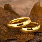 klassiske vielsesringe, alguld, forlovelsesringe, vielsesringe omsmeltet guld, vielsesringe gammelt guld, vielsesringe bioguld