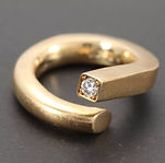alguld, forlovelsesring, unik diamantring, rustik diamantring, brillantring, guldsmed århus