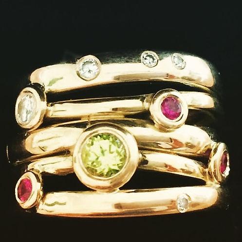 Handlavet diamantring aarhus alguld