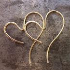 hjerte øreringe, guldøreringe hjerter, forlovelsesgave, kærestesmykke, kæreste gave, valentinesgave, alguld