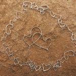 sølv halskæde med hjete