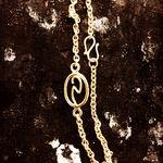 guldarmbånd m initialer alguld