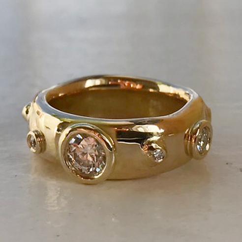 stor diamant ring, design diamantring