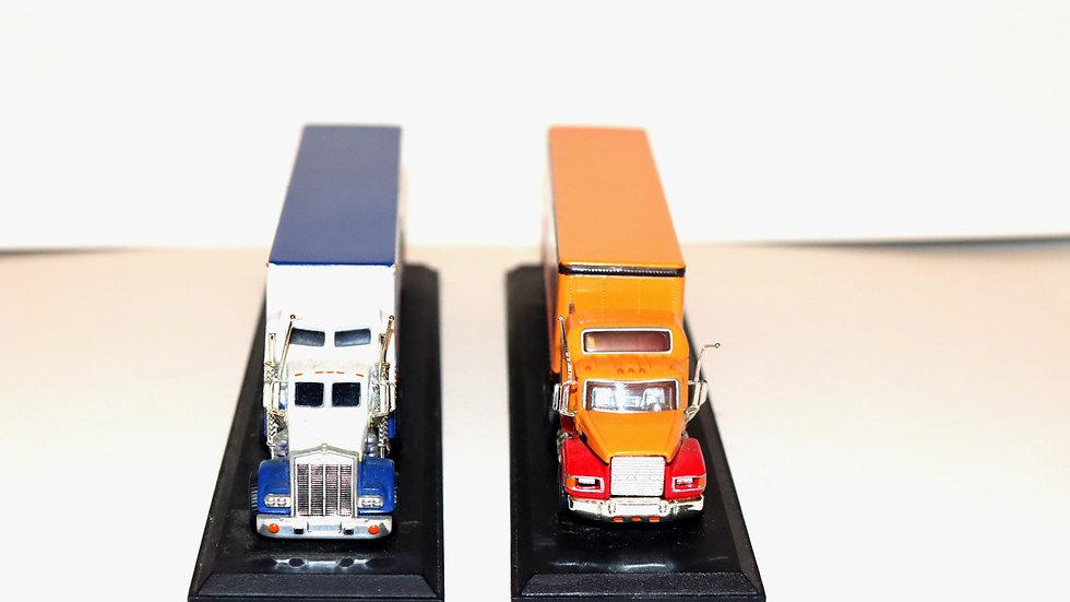Majorette Kenworth Honey Brown and Miller Lager Trucks