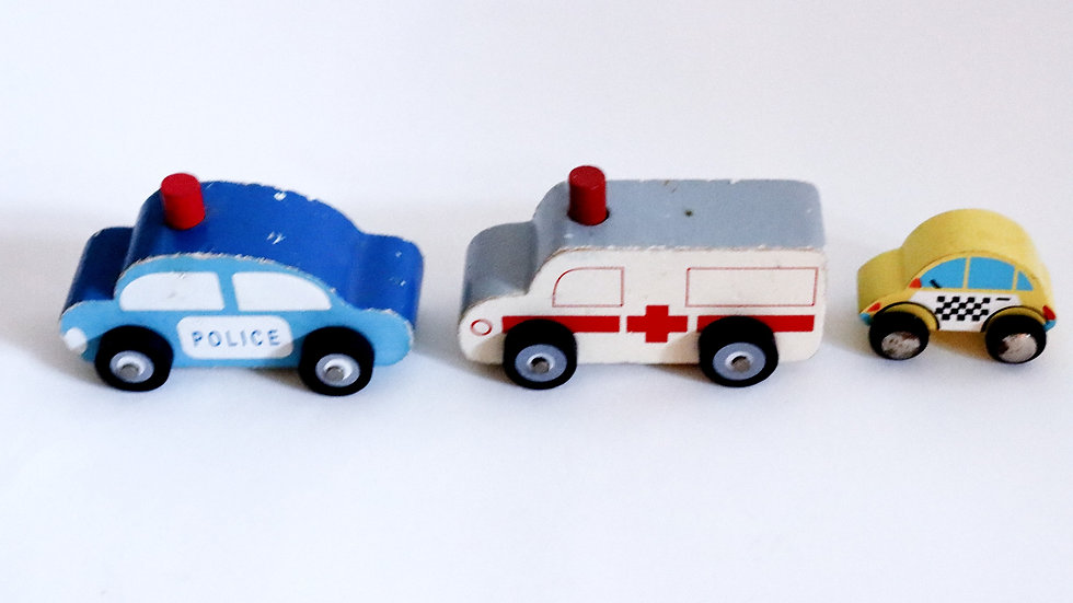 Wooden Emergency Vehicle Toy Set of 3