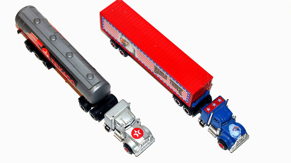 Majorette Kenworth Eagle and Texaco Tractor Trailer Truck