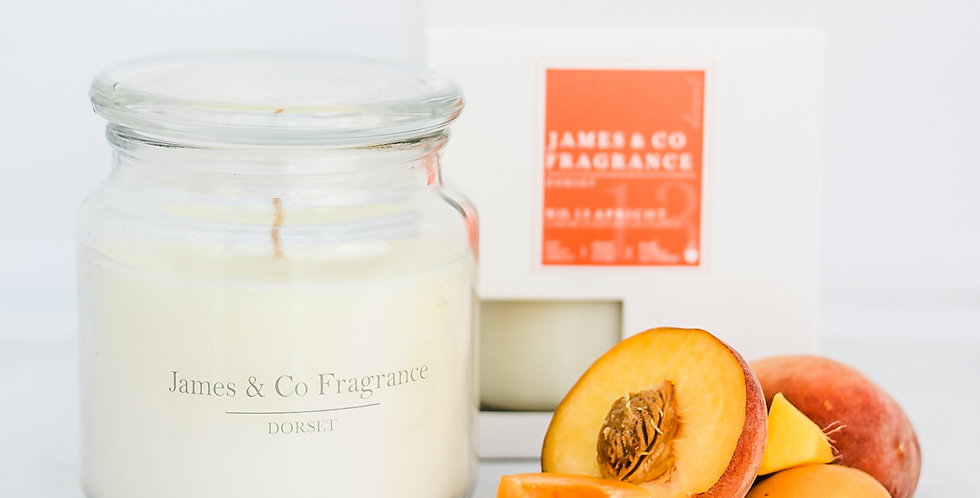 No. 13 Apricot Jar Candle 60 hours burn time