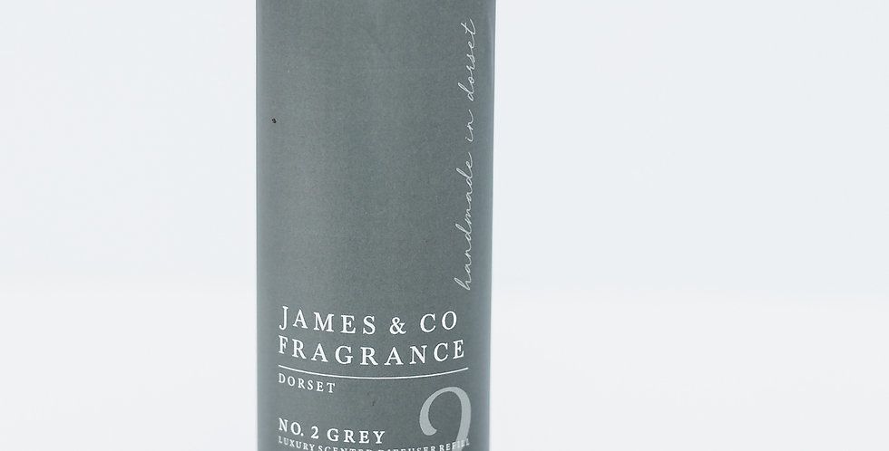 No. 2 Grey 200ml Refill Diffuser with Grey Fibre Reeds