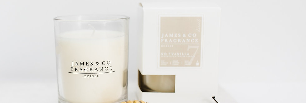 No. 7 Vanilla Glass Candle 35 hour burn time