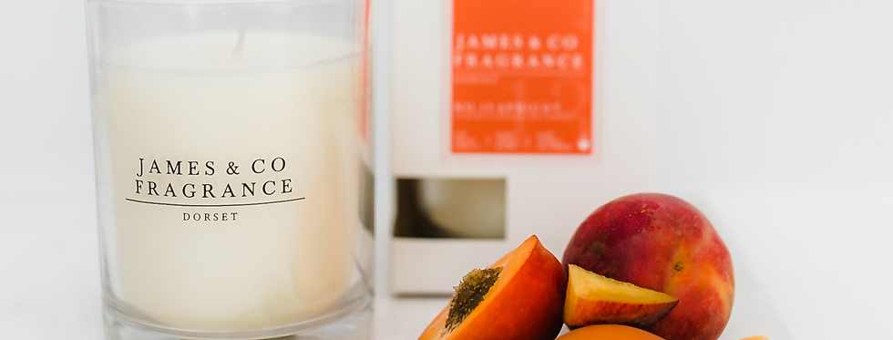 No. 13 Apricot Glass Candle 35 hours burn time