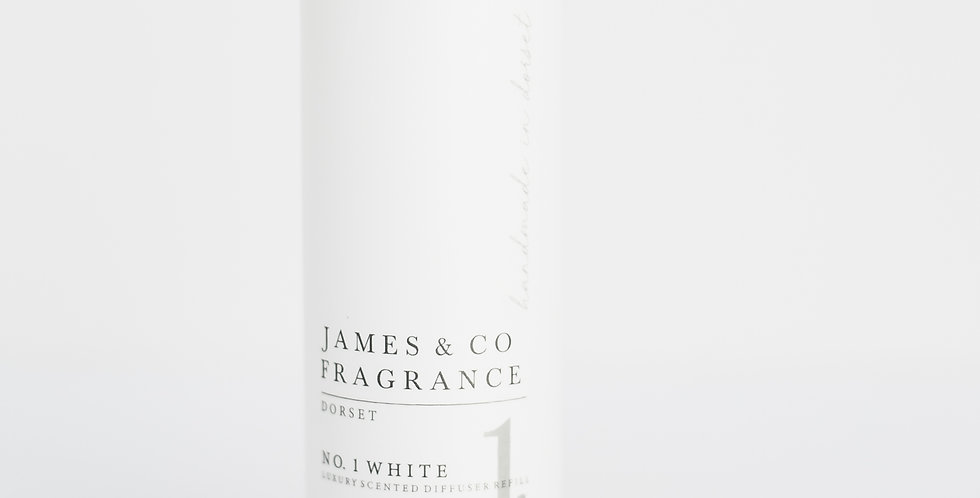No. 1 White 200ml Refill Diffuser with Grey Fibre Reeds