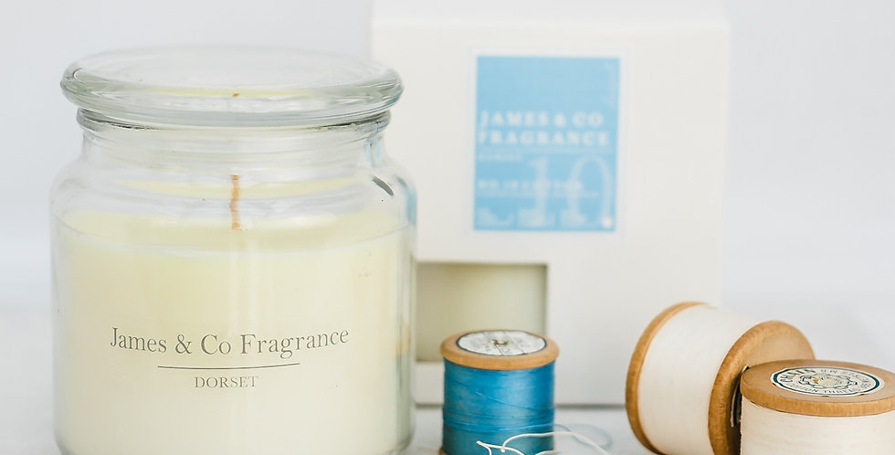 No. 10 Cotton Jar Candle 60 hours burn time